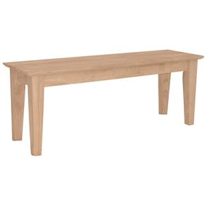 "John Thomas SELECT Dining 47"" Shaker Bench"