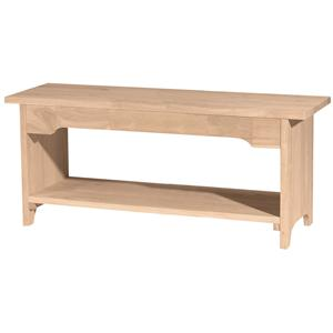 "John Thomas SELECT Dining 60"" Brookstone Bench"