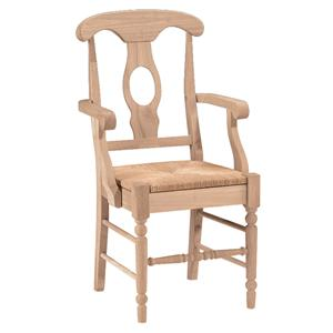 John Thomas SELECT Dining Empire Arm Chair with Rush Seat