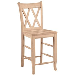 "John Thomas SELECT Dining 24"" Double X-Back Stool"