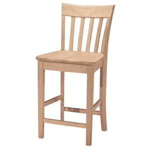 "John Thomas SELECT Dining 24"" Slatback Stool"