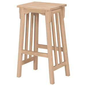 "John Thomas SELECT Dining 30"" Backless Mission Stool"