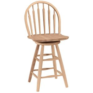 "John Thomas SELECT Dining 24"" Arrowback Windsor Stool"