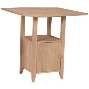 John Thomas SELECT Dining Dropleaf Pub Table With Storage