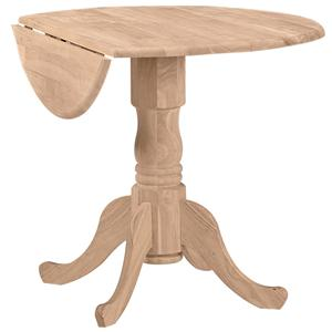 "John Thomas SELECT Dining 36"" Round Dropleaf Pedestal Table"