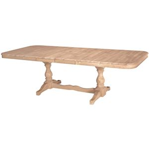 John Thomas SELECT Dining Double Butterfly Leaf Trestle Table