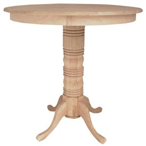 "John Thomas SELECT Dining 42"" Round Pub Height Pedestal Table"