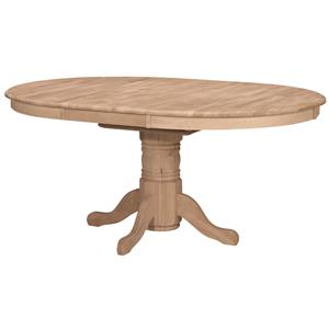 John Thomas SELECT Dining Oval Butterfly Leaf Pedestal Table