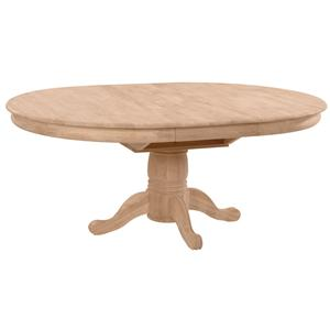 John Thomas SELECT Dining Butterfly Leaf Pedestal Table