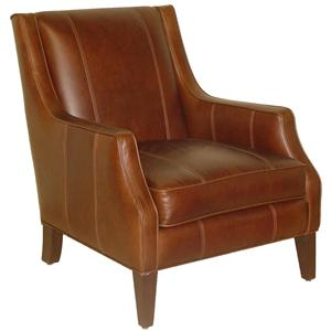 Jonathan Louis Accentuates Miles Leather Accent Chair