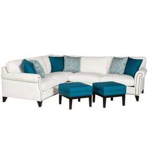 Jonathan Louis Caitlyn Contemporary Sectional With Tapered Legs