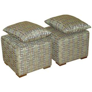 Jonathan Louis Margaret Pair of Cube Ottomans