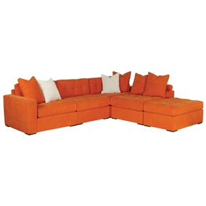 Jonathan Louis Noah 5-Piece Sectional with Ottoman