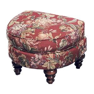 Justice Furniture Accent Chairs and Ottomans Half Moon Ottoman in Unique Style