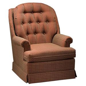 Justice Furniture Accent Chairs and Ottomans Casual Styled Swivel Rocker