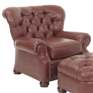 Justice Furniture Accent Chairs and Ottomans Den Style Brentwood Chair with Tufted Back