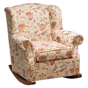 Justice Furniture Accent Chairs and Ottomans Casual Upholstered Rocking Chair
