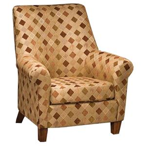 Justice Furniture Accent Chairs and Ottomans Contemporary Accent Chair with Curved Back