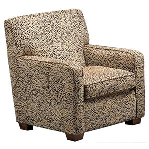 Justice Furniture Accent Chairs and Ottomans Contemporary Styled Track Arm Chair