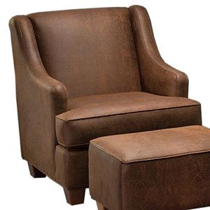 Justice Furniture Accent Chairs and Ottomans Modern Chair with Flaring Track Arms