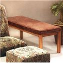 Justice Furniture Accent Chairs and Ottomans Turkish Bench with Upholstered Seat  - Item Number: Bench