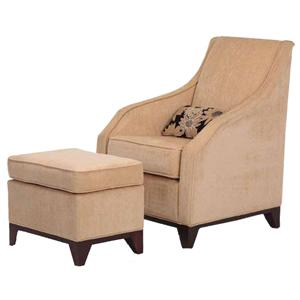 Justice Furniture Accent Chairs and Ottomans Modern Berkshire Chair and Ottoman Set