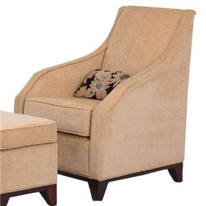 Justice Furniture Accent Chairs and Ottomans Modern Berkshire Chair with Sloping Arms