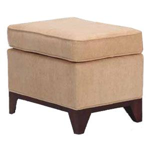 Justice Furniture Accent Chairs and Ottomans Berkshire Ottoman with Exposed Wood