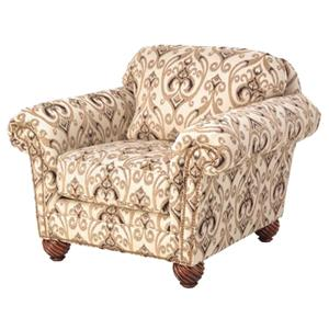 Justice Furniture Accent Chairs and Ottomans Traditional Styled Lounge Chair