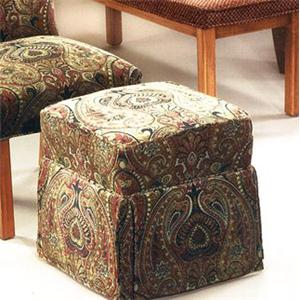 Justice Furniture Accent Chairs and Ottomans Skirted Cube Ottoman