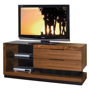 kathy ireland Home by Martin Stratus-Walnut Small Television Console