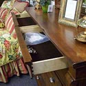Kincaid Furniture Tuscano Drawer Dresser With Round Mirror - Felt Lined Top Drawers