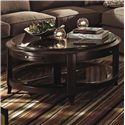 Kincaid Furniture Alston Round Cocktail Table - Shown decorated and in a living room setting