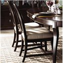 Kincaid Furniture Alston Side Chair Fabric - Shown paired and with an Oval Leg Table
