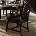 Kincaid Furniture Alston Arm Chair Leather - Shown with Oval Leg Table