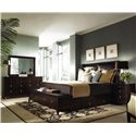Kincaid Furniture Alston King Bed with Underbed & Footboard Bench Storage - Shown with Dresser, Mirror, and Nightstand - Bed Shown May Not Represent Size Indicated