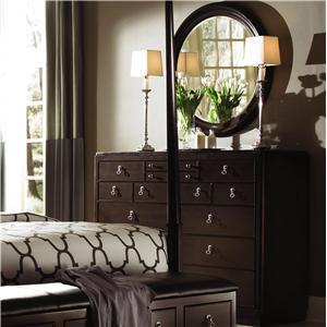 Kincaid Furniture Alston Bureau & Round Mirror