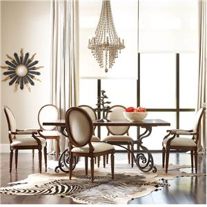 """Kincaid Furniture Artisan's Shoppe Dining 7 pc 72"""" Table w/ Oval-Backed Chairs"""