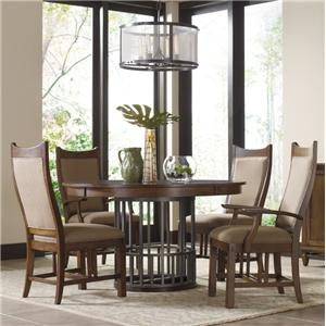 Kincaid Furniture Bedford Park 5 Pc Elements Table and Craftsman Chairs Set