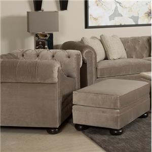 Kincaid Furniture Camden  Chair and Ottoman