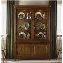 Kincaid Furniture Cherry Park Base and Deck China Cabinet - Two Sliding Wood Doors