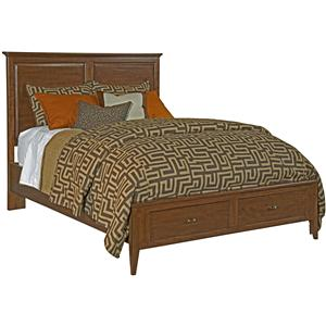 Kincaid Furniture Cherry Park King Storage Panel Bed