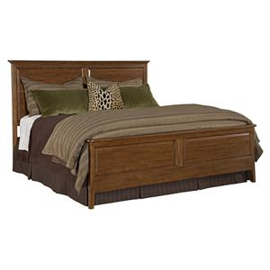 Kincaid Furniture Cherry Park King Panel Bed