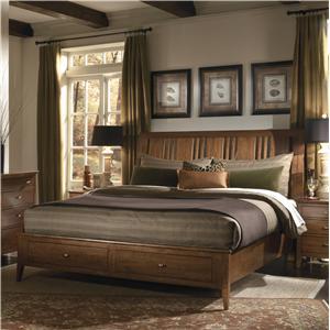 Kincaid Furniture Cherry Park King Storage Bed