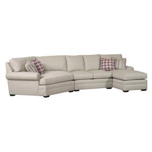 Kincaid Furniture Custom Select Upholstery 3 Pc Custom Built Sectional Sofa