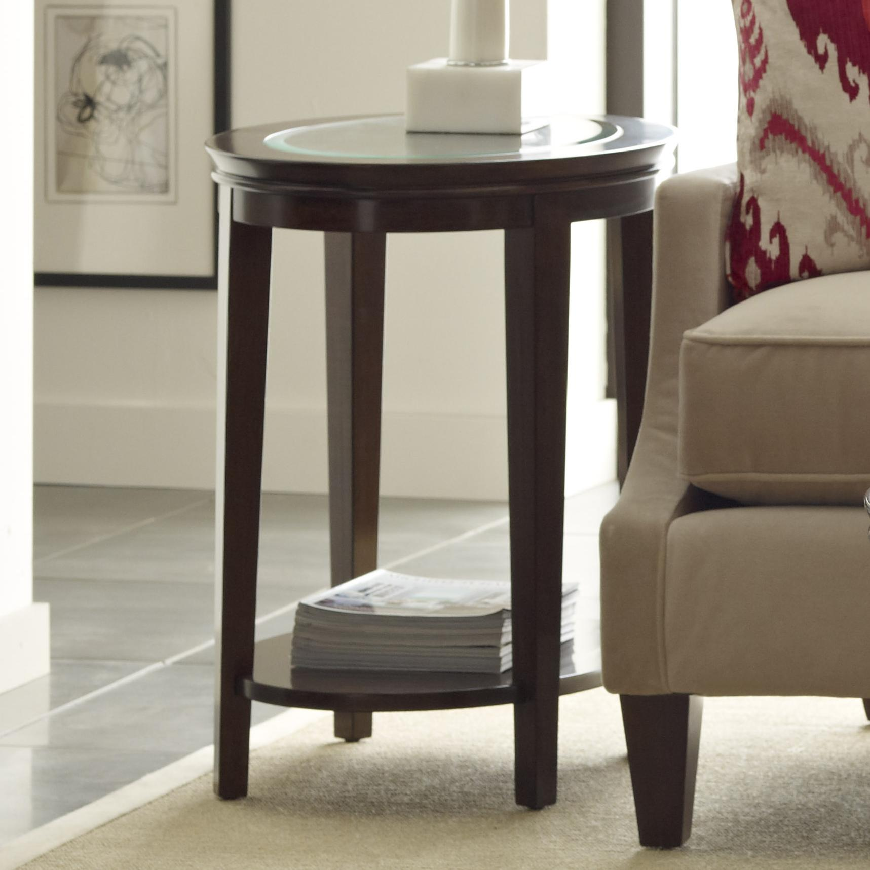Transitional Elise Oval End Table With Glass Top