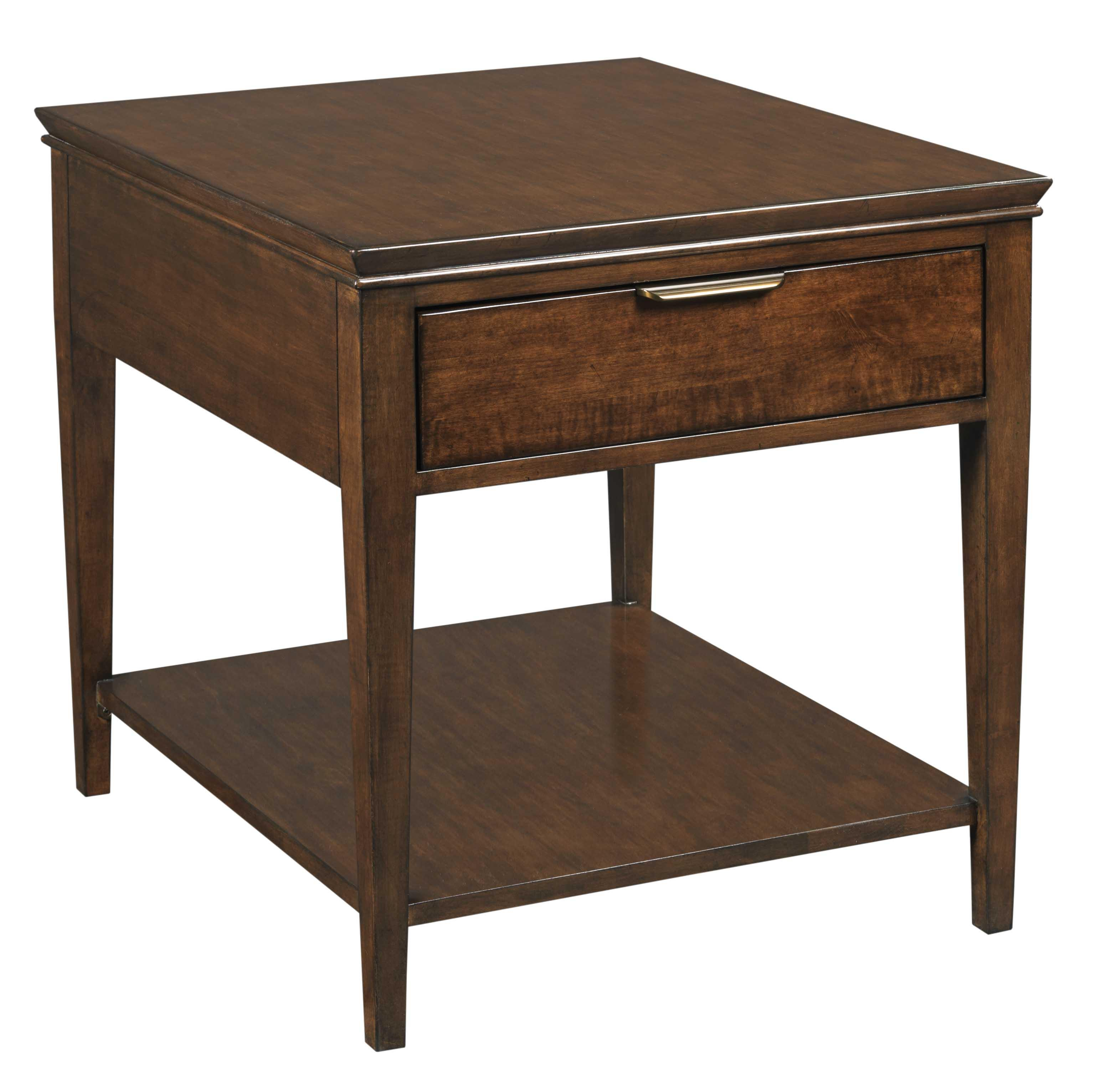 Exceptional Transitional Elise End Table With One Drawer