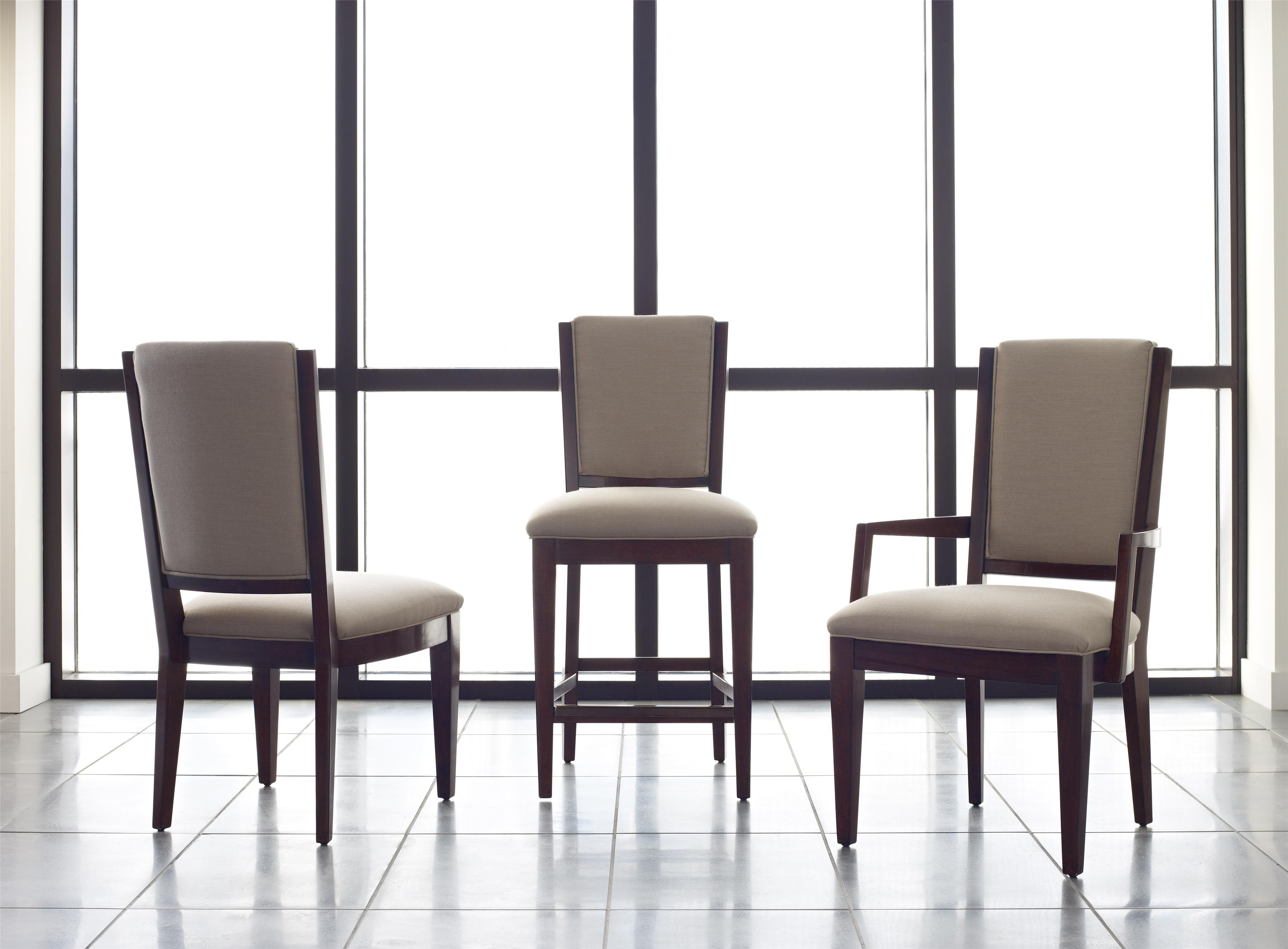 Transitional Spectrum Counter Height Chair With Performance Fabric Upholstery By Kincaid