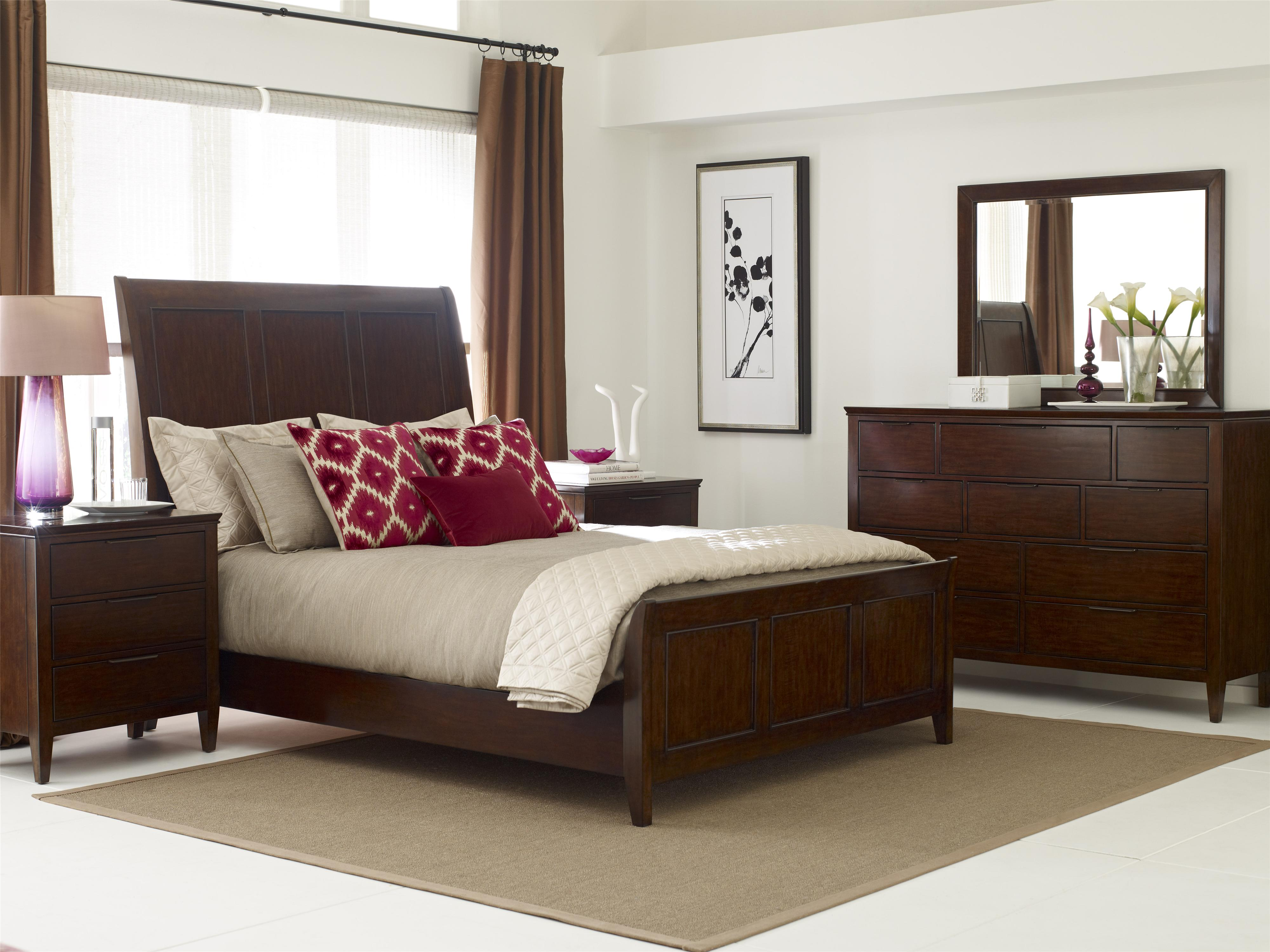 Sleigh Bedroom Furniture Sets Caris Queen Sleigh Bed By Kincaid Furniture Wolf And Gardiner