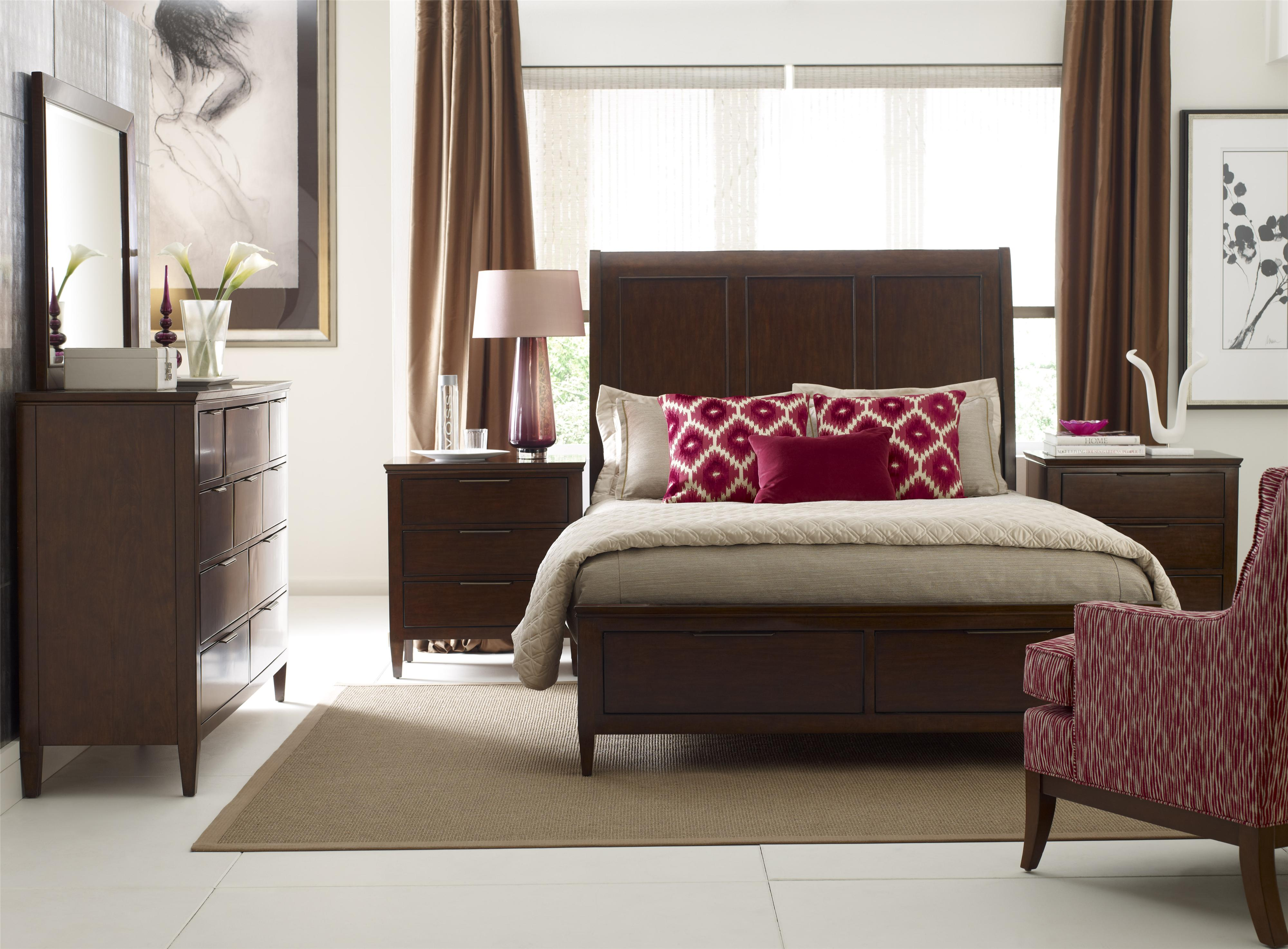Caris King Sleigh Bed with Storage Footboard by Kincaid Furniture